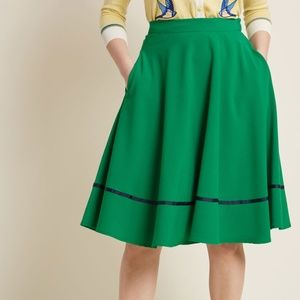 ModCloth just this sway a line skirt in green